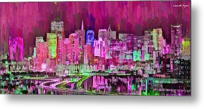 San Francisco Skyline 108 - Da Metal Print by Leonardo Digenio
