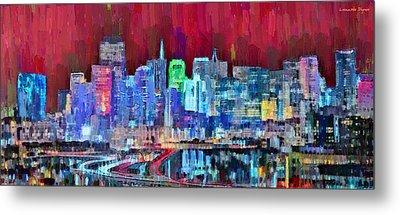 San Francisco Skyline 113 - Da Metal Print