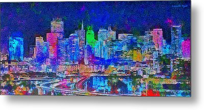 San Francisco Skyline 130 - Pa Metal Print by Leonardo Digenio