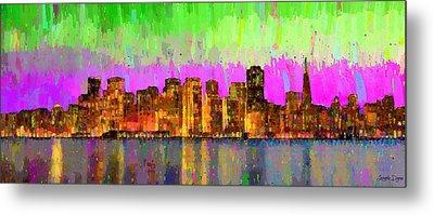San Francisco Skyline 15 - Pa Metal Print by Leonardo Digenio