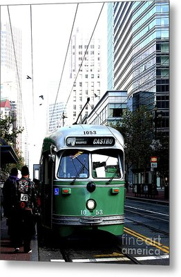 San Francisco Trolley Castro Line . 40d3023 Metal Print by Wingsdomain Art and Photography