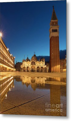 Metal Print featuring the photograph San Marco Twilight by Brian Jannsen