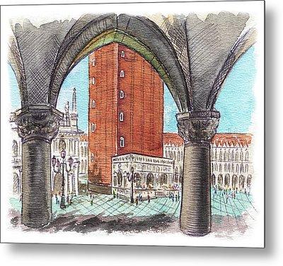 San Marcos Square Venice Italy Metal Print