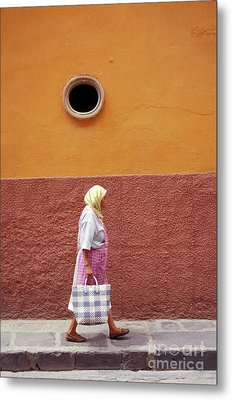 Metal Print featuring the photograph San Miguel Woman San Miguel De Allende Mexico by John  Mitchell