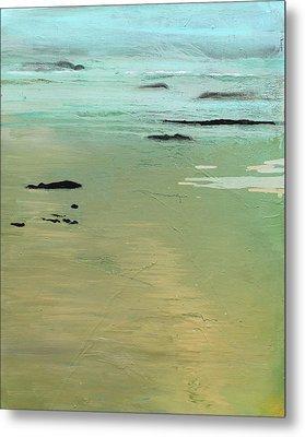 Sand And Sea Metal Print by Ethel Vrana