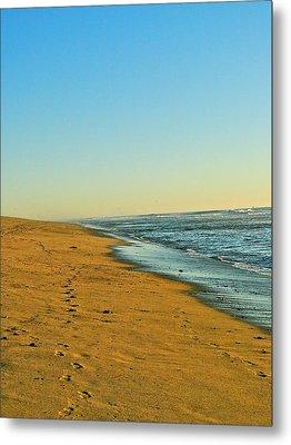 Sand And Sea Metal Print