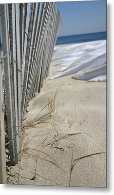 Sand And Snow Metal Print by Mary Haber