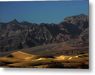 Sand Dunes - Death Valley's Gold Metal Print by Christine Till
