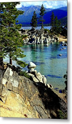 Sand Harbor Morning Metal Print