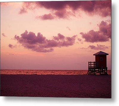 Sand Key Sunset Metal Print by Milton Brugada