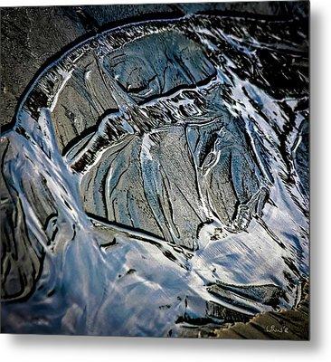 Sand Reflection Metal Print