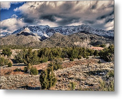 Metal Print featuring the photograph Sandia Mountain Landscape by Alan Toepfer