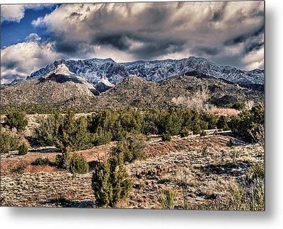 Sandia Mountain Landscape Metal Print by Alan Toepfer