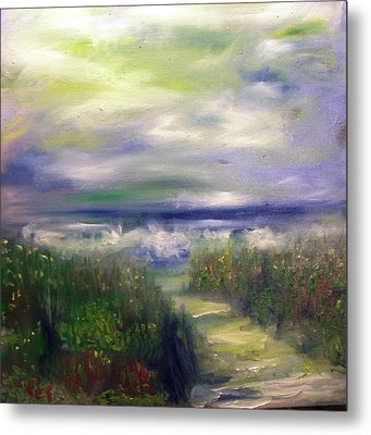 Sandy Path To The Beach Painting Metal Print by Patricia Taylor