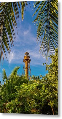 Metal Print featuring the photograph Sanibel Lighthouse by Steven Ainsworth