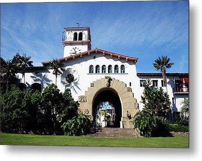 Santa Barbara Courthouse -by Linda Woods Metal Print
