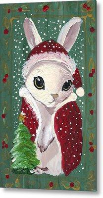 Santa Claus Bunny Metal Print by Sylvia Pimental