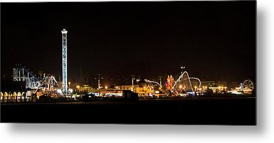 Santa Cruz Boardwalk By Night Metal Print