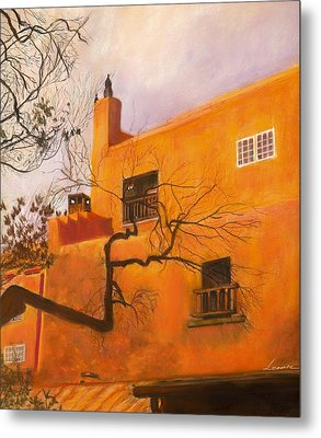 Santa Fe Building Metal Print by Leonor Thornton