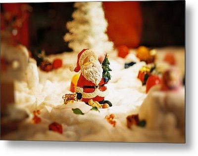 Santa In Town Metal Print by Sun Wu