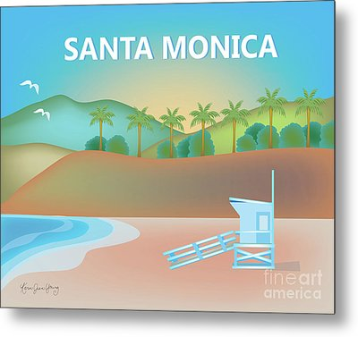 Santa Monica California Horizontal Scene Metal Print