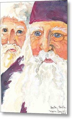 Santa Santa Metal Print by P Maure Bausch