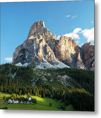 Sassongher At Sunrise, Alta Badia Metal Print by Matteo Colombo