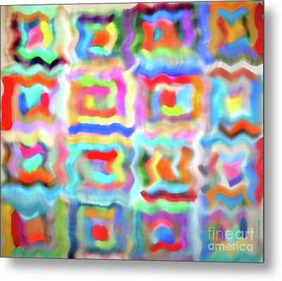 Saturday Quilting Muse Metal Print by Gwyn Newcombe