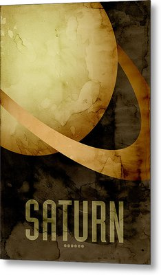 Saturn Metal Print by Michael Tompsett