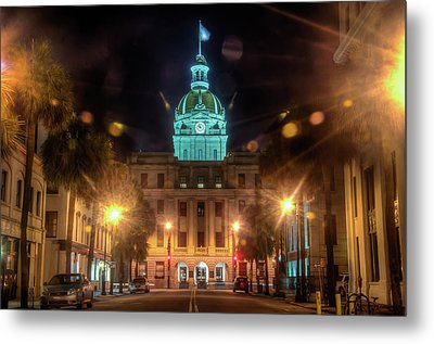 Savannah City Hall Metal Print