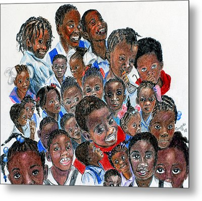Metal Print featuring the painting Save The Children by Quwatha Valentine