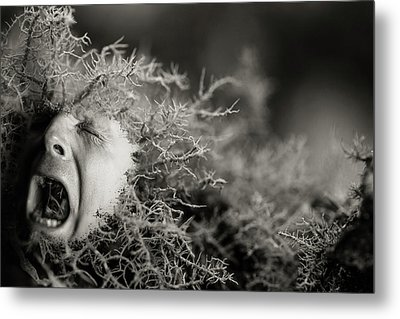Saving Face Metal Print by Randy Turnbow