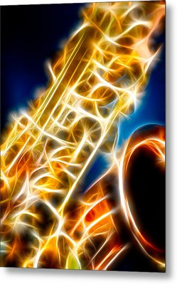 Saxophone 2 Metal Print by Hakon Soreide