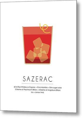 Sazerac Classic Cocktail Minimalist Print Metal Print