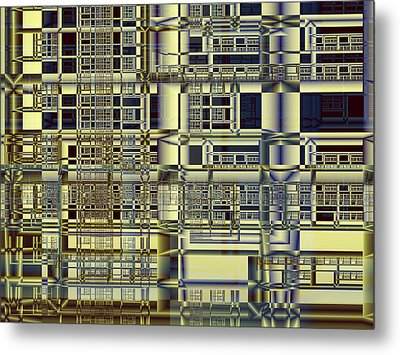 Metal Print featuring the digital art Scaffolds by Richard Ortolano