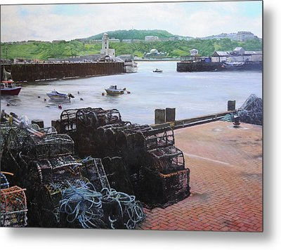 Scarborough Harbour. Metal Print by Harry Robertson