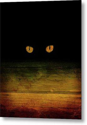 Scare-d-cat Metal Print by Shevon Johnson