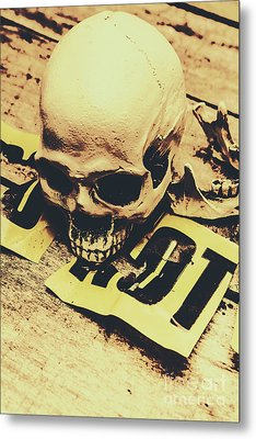 Scary Human Skull Metal Print by Jorgo Photography - Wall Art Gallery