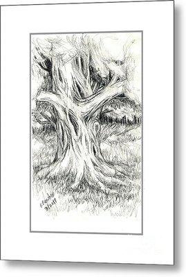 Scary Tree Metal Print by Ruth Renshaw