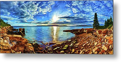 Schoodic Point Cove Metal Print by ABeautifulSky Photography
