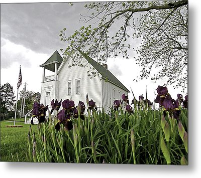 School House In The Country II Metal Print by Christine Belt