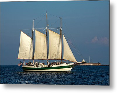 Schooner By Fort Sumter Metal Print
