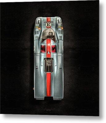 Schuco Porsche 917 Top On Black Metal Print