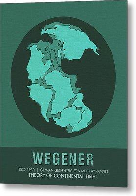 Science Posters - Alfred Wegener - Geophysicist, Meteorologist Metal Print