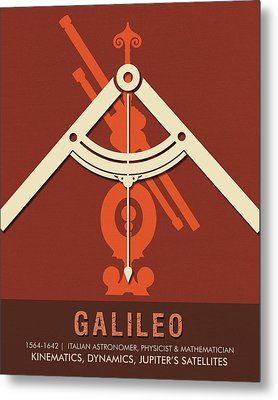 Science Posters - Galileo Galilei - Astronomer, Physicist, Mathematician Metal Print
