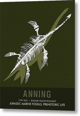 Science Posters - Mary Anning - Paleontologist Metal Print