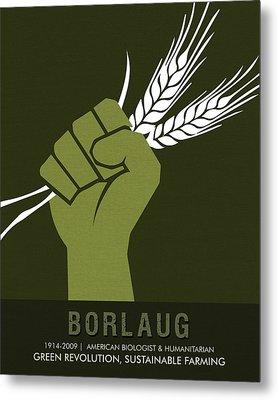 Science Posters - Norman Borlaug - Biologist, Agronomist Metal Print