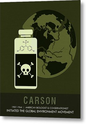 Science Posters - Rachel Carson - Biologist, Conservationist Metal Print