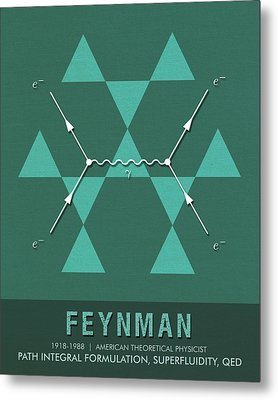 Science Posters - Richard Feynman - Theoretical Physicist Metal Print
