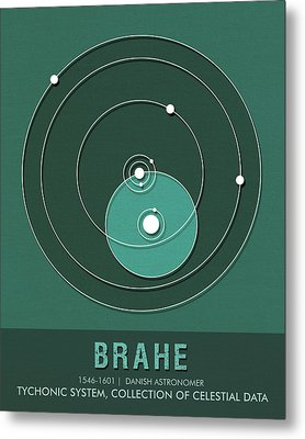 Science Posters - Tycho Brahe - Astronomer Metal Print